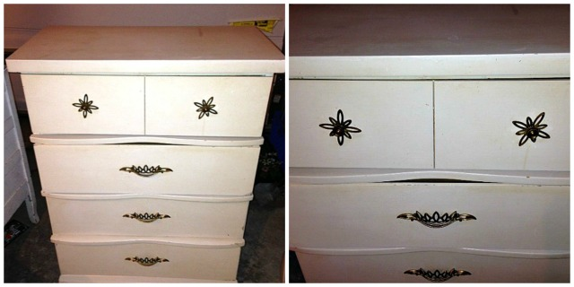50's dressers side by side unpainted