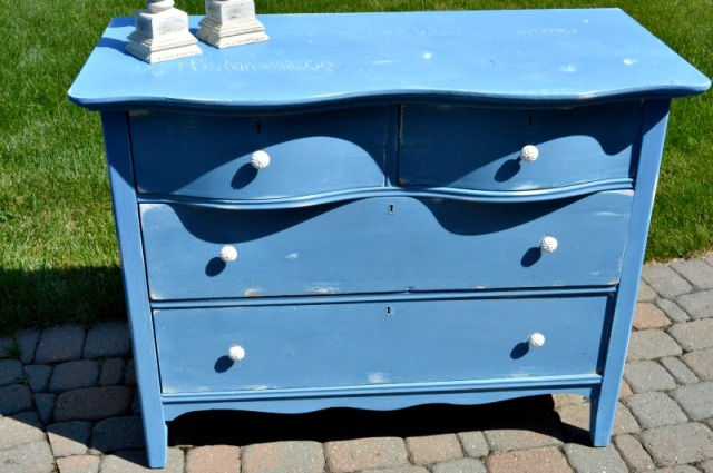 Blue greek blue dresser finished