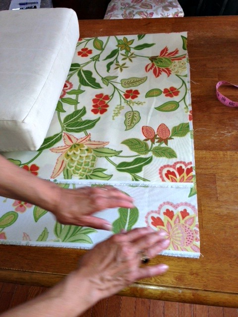 Cutting out wicker chair material web