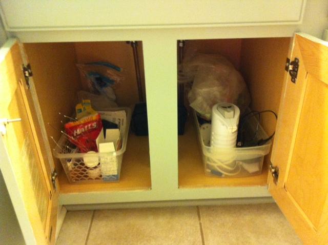 Steve's organized vaniety area