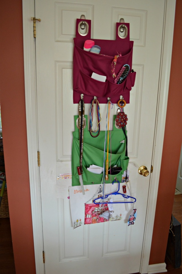 Door organizer web