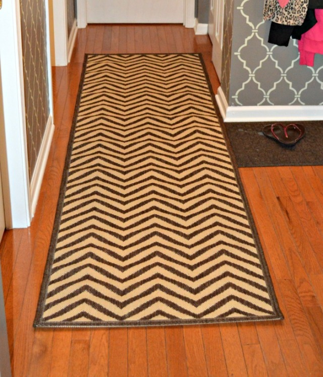 New rug in mudroom