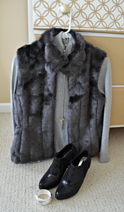 Banana Republic Vest - hanging on dresser web