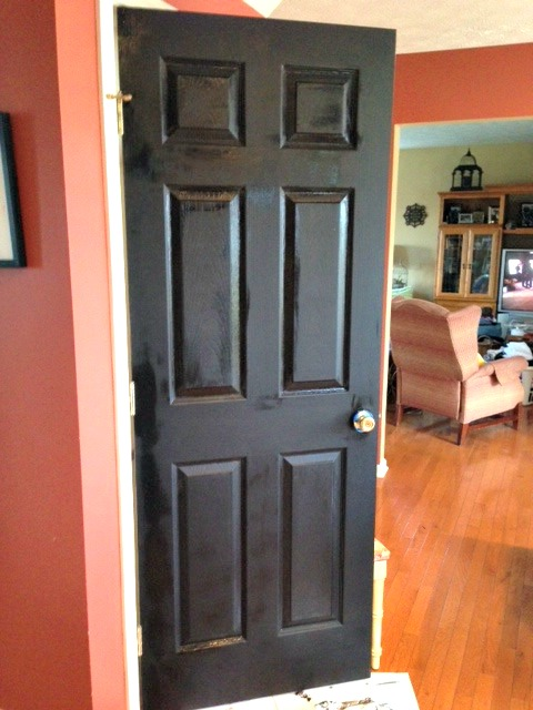 Chalkboard paint door coat one web