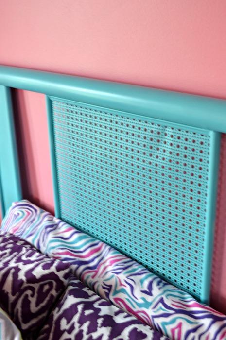Closeup of Emma's bed web