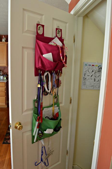 kids buckets on back of door web