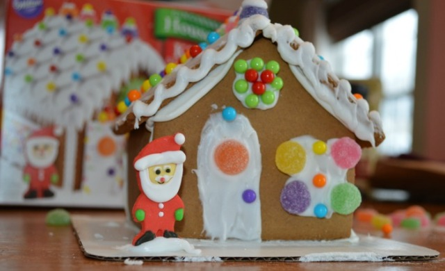 Closeup of the ginger bread house web