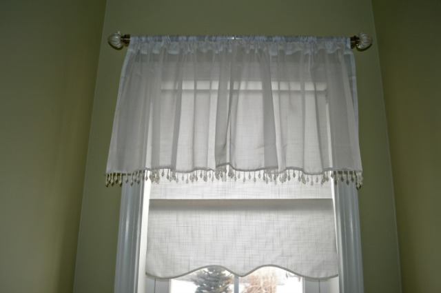 curtain in the powder room