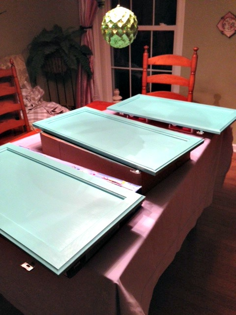 Painting the larger cabinets web