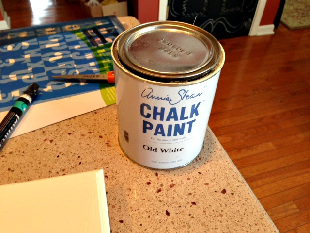 Picture of the annie sloane paint used for sign web
