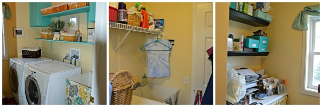 The before and after of the laundry room
