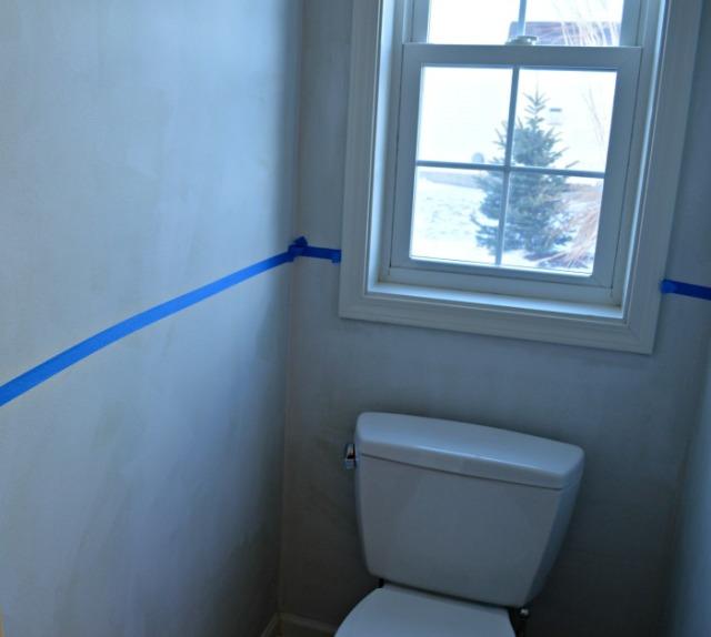bathroom prep w primer and blue line