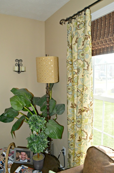 Back window by TV Curtain panel