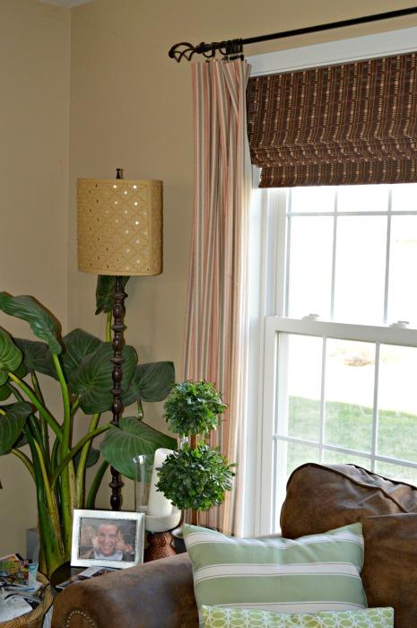 Stripe curtain family room